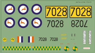 Decal SAAF Harvard 3 Sqn 1950s 48 scale MAVDecals MAV-480205